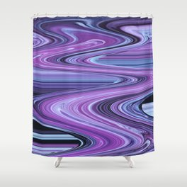 Traveling Down the Purple River Shower Curtain