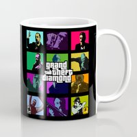 snatch Mugs featuring Grand Theft Diamond Snatchers by Ant Atomic