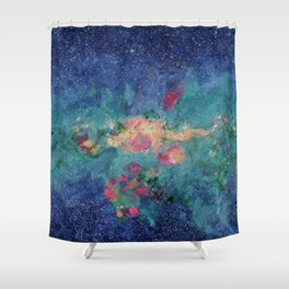 Gathering of Stars Galaxy Shower Curtain