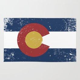 Distressed Colorado Flag Rug