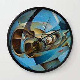Monoplane in Flight by T. Crali Wall Clock