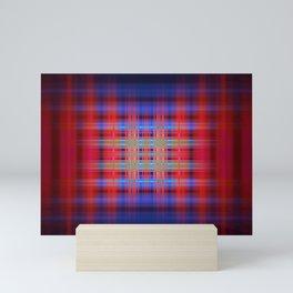 Red and blue blurred stripes Mini Art Print