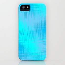 Teal Blue and Cyan Design iPhone Case