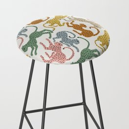 Rainbow Cheetah Bar Stool