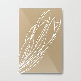 Protea Toffee Metal Print