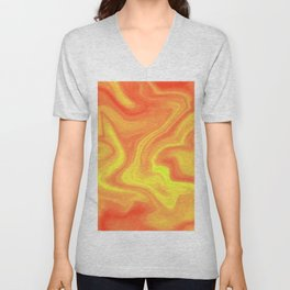 Orange Yellow Unisex V-Neck