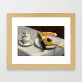 still life with eye Framed Art Print