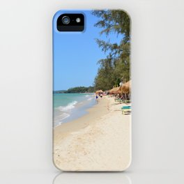 Otres Beach Sihanoukville Cambodia iPhone Case