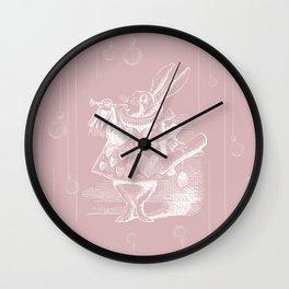 White Rabbit and Clocks Wall Clock