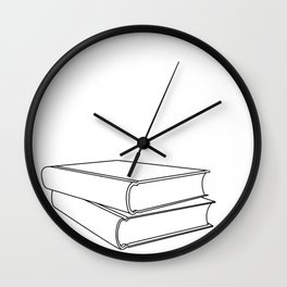 Go Hardcover or Go Home Wall Clock