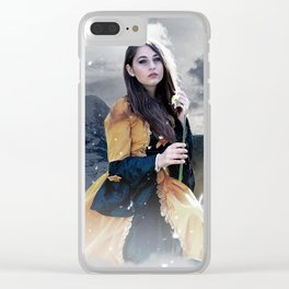 Gothic Princess & Wolf Clear iPhone Case