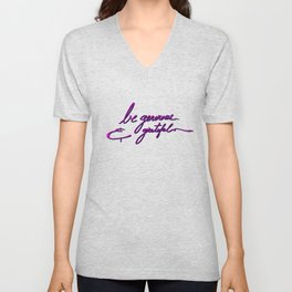 Be generous & grateful Unisex V-Neck