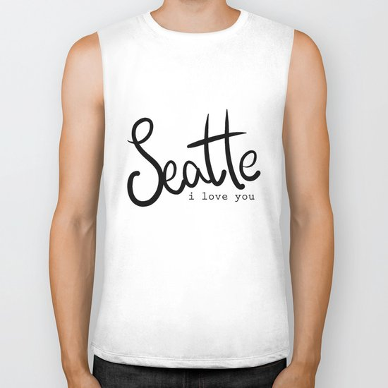 Seattle i love you  Biker Tank