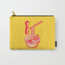 Japanese Ramen Isometric Minimal - Solid Yellow Carry-All Pouch