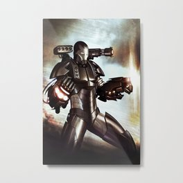Made of Iron Metal Print