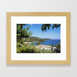 Seacoast near Le Lavandou and Bormes-les-Mimosas in French Riviera Framed Art Print