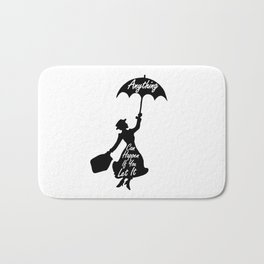 Anything Can Happen If You Let It - Mary Poppins Quote Bath Mat