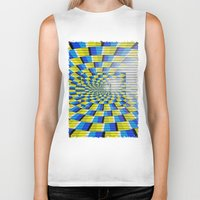 holographic Biker Tanks featuring Radial Structure by Anya Campbell by BohemianBound