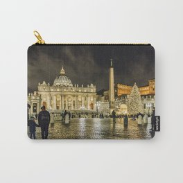 Saint Peters Basilica Winter Night Scene, Rome, Italy Carry-All Pouch