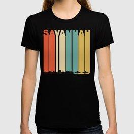 Vintage 1970's Style Savannah Georgia Skyline T-shirt