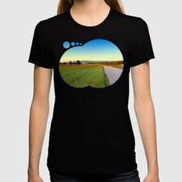 Autumn afternoon in the countryside   landscape photography T-shirt