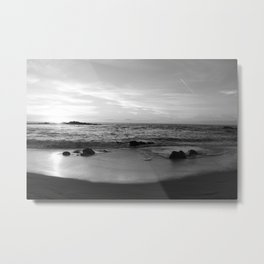Sunset in Black and White 2 Metal Print