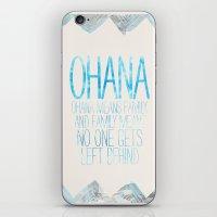 ohana iPhone & iPod Skins featuring OHANA by Sara Eshak