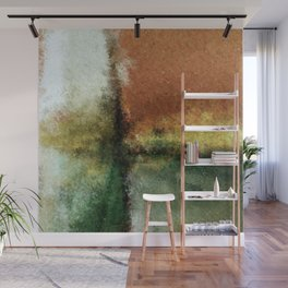 Focal Point Earth Tone Digital Painting Wall Mural