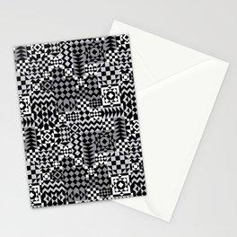 Grey Geo Patchwork Stationery Cards