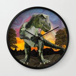 Tyrannosaurus Rex at the Twilight Hour Wall Clock