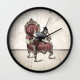 The Imperial Pug Wall Clock