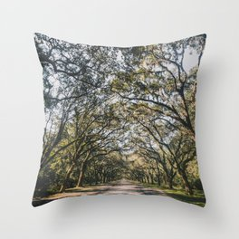 Wormsloe Live Oak Avenue - Savannah Throw Pillow