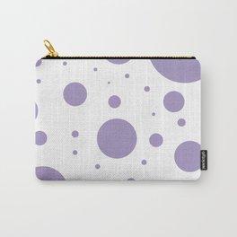 Lavender Bubbles Print Carry-All Pouch
