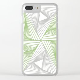 Optical illusion forming hexagon with triangles- Line composition forming different shapes Clear iPhone Case