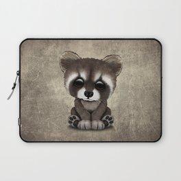 Cute Baby Raccoon Laptop Sleeve