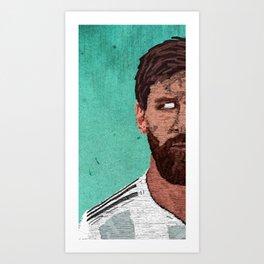 Leonel Messi Portrait Art Print