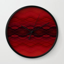 Interlaced (Red) Wall Clock