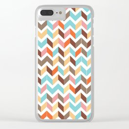 earthly chevron Clear iPhone Case