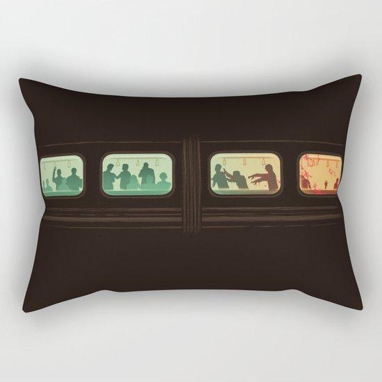 Ground Zero - Zombie Subway Rectangular Pillow