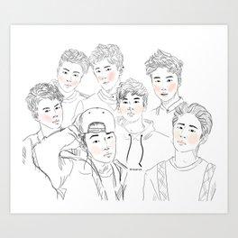iKON Art Print