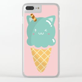 Mint Ice-cream Clear iPhone Case