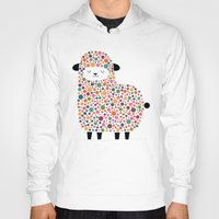 bubble Hoodies featuring Bubble Sheep by Andy Westface