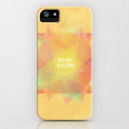 Dreams in bloom iPhone Case