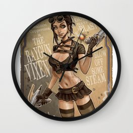 Ray Gun Vixen Wall Clock