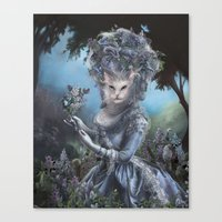 marie antoinette Canvas Prints featuring Marie Antoinette by Christina Hess