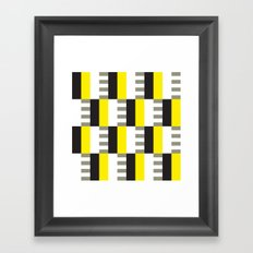 Yellow & black modernist pattern Framed Art Print