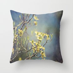 Dogwood Tree Blooming Throw Pillow