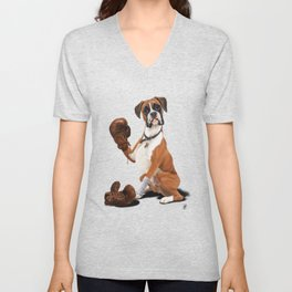 The Boxer (Wordless) Unisex V-Neck