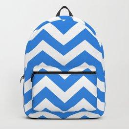 Bleu de France - turquoise color - Zigzag Chevron Pattern Backpack