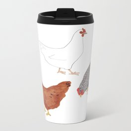 Chickens Metal Travel Mug